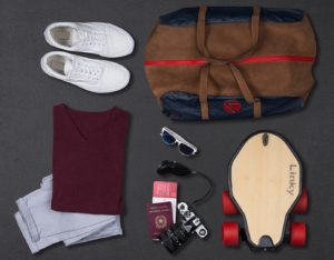 packing an electric longboard backpack with lots of stuff