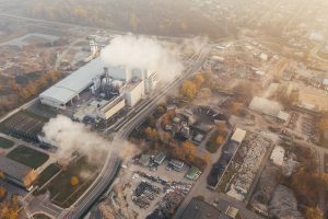 factory creating pollution climate change